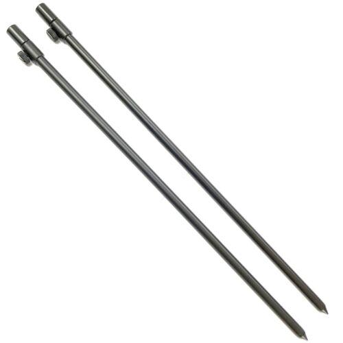 2 x 50-90cm Black Carp Coarse Aluminium BankSticks Bank Sticks Fishing Lidsters