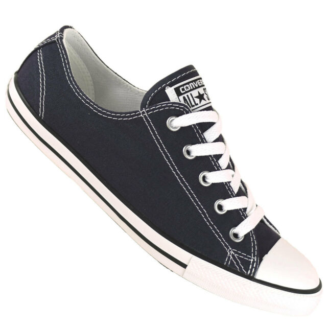 c086283aa82 Converse All Star Dainty Ox Canvas Womens Trainers Shoes Navy Size 6 ...