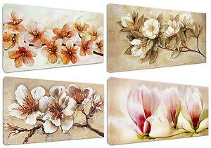 Quadri moderni arredamento fiori ramo arredo casa arte stampa su tela ebay - Quadri arredamento casa ...