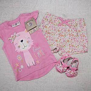 shirt,hose ,schuhe Baby Mädchen Sommer Set Süßes 3 Tlg Gr.68,74,86 Hot Sale 50-70% OFF
