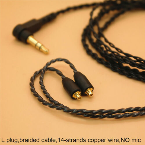 3.5mm Headphone Earphone DIY Braided Cable MMCX Plug Updated Replacement WiF JH