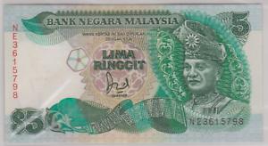 Mazuma *M917 Malaysia 6th $5 NE3615798 1st Prefix With Cross AUNC