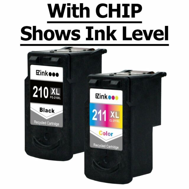 Combo Pack PG 210 XL /& CL-211XL Ink For Canon PIXMA IP2700 MP230 MP240 MP250