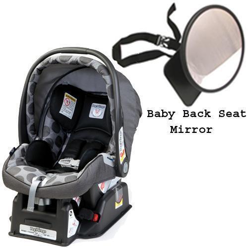 Peg Perego Primo Viaggio sip 30/30 Car Seat w/ Back Seat Mirror - Pois Grey