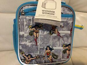 07da2f256e34 Pottery Barn Kids Wonder Woman Classic Lunch Bag Super Hero Blue ...