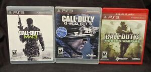 Call of Duty Modern Warfare 1 3 Ghosts - Playstation 3 PS3 3 Game Lot Works
