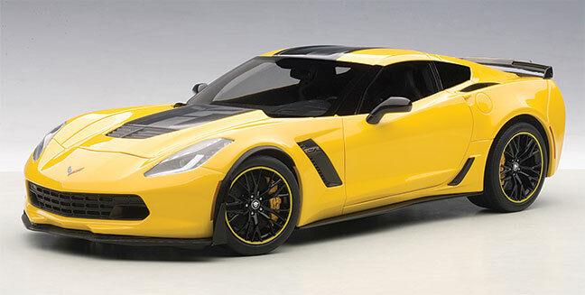 AUTOART Diecast Corvette C7 Z06 C7R Edition-CORVETTE RACING JAUNE