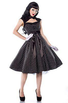 50er Jahre Pin Up Vintage Rockabilly Kleid Tanzkleid / Petticoat Rock