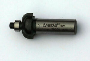 Trend-Router-Cutter-Bit-1-2-034-shank-Guided-Cove-Cutter-1-4-inch-radius-Bearing