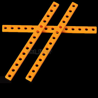 2pcs 126*9mm Orange Plastic Connector Strip Fix Frame For Robotic Car Model Toy