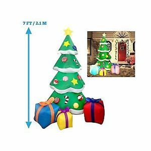 Joiedomi 7 Foot Led Light Up Giant Christmas Tree Inflatable With 3