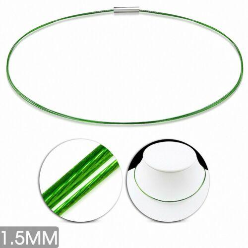 Collier tour de cou en fil de câble torsadé celtique en acier inoxydable 1,5mm