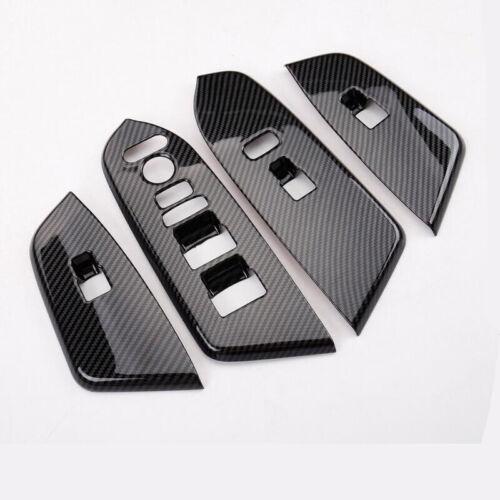 Fit For HONDA CR-V CRV 2017-2019 Carbon fiber look Door Cover Armrest Trim 4cps