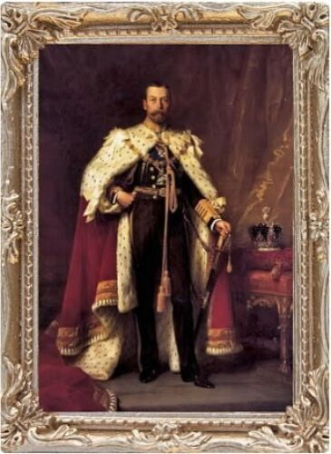 MADE IN AMERICA KING GEORGE V Dollhouse Picture Miniature Art FAST DELIVERY