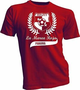 Seleccion de Panama Futbol Soccer T Shirt Camiseta Marea Roja RED ... 58f28abb06c7