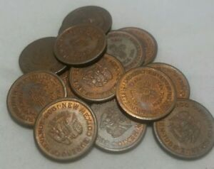 One-1935-New-Mexico-Emergency-School-Tax-On-Purchase-Of-Five-Cents-Token-5-MILLS