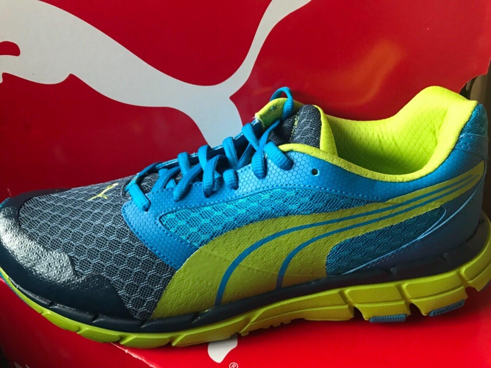 Men's Puma Poseidon Majolica bluee Green Running shoes Trainers BNIB