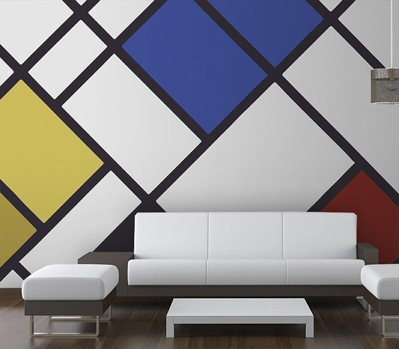 Giallobus - Carta da parati – Mondrian 2