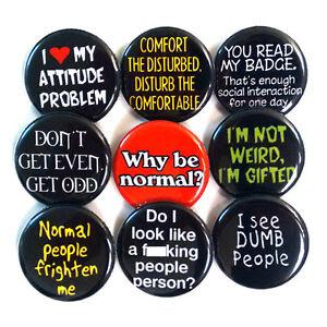 Anti-Socia-l-Slogans-Badges-Buttons-Pins-x-9-Size-25mm-Badge-Pinbacks