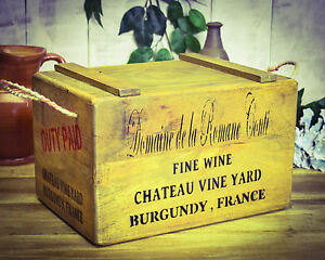 Crate French Wine Chest Collection Here Vintage Antiqued Wooden Box