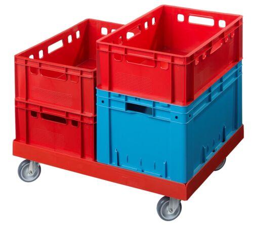 400 kg Traglast Transportroller Transportwagen Rolli für Kisten 80 x 60 cm