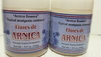 2 Arnica Flowers Topical Analgesic Ointment Net Wt 3.5 Oz Flores Arnica 04/18