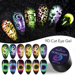 NICOLE-DIARY-9D-Magnetic-Cateye-Gel-Polish-Stamp-Gel-Nail-Stamping-Plates-Sets