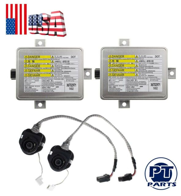 2x Xenon Ballast HID Headlight Unit For W3T10471 2002-2005