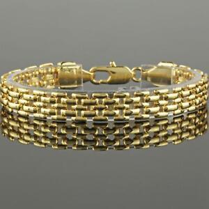 Luxus-Damen-Armband-Koenigskette-Echt-750er-Gold-18K-vergoldet-UVP-79-B1429S