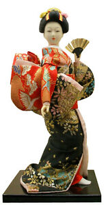 Authentic Vintage Japanese Geisha Doll 9 inches: Figure #2