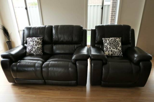 Premium leather lounge suiterecliner with Extra Single Seater