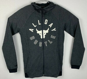 Under-Armour-Project-Rock-Full-Zip-Hoodie-All-Day-Hustle-Mens-L-Large-NWT