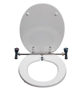 Sedile Wc Con Miscelatore.Sedile Copriwater Universale Bianco Con Rubinetto Funzione Bidet Ebay
