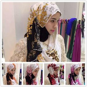 Muslim-One-Piece-Lace-Chiffon-Floral-Printed-Islamic-Scarf-Hijab-Shawl-150x60cm