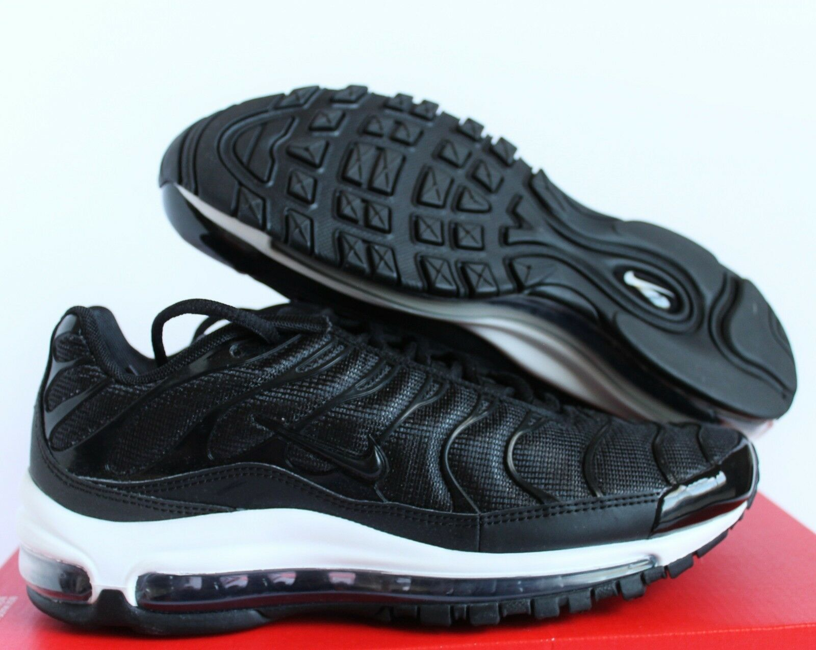 NIKE AIR MAX 97 / PLUS Noir -ANTHRACITE-blanc SZ 6.5