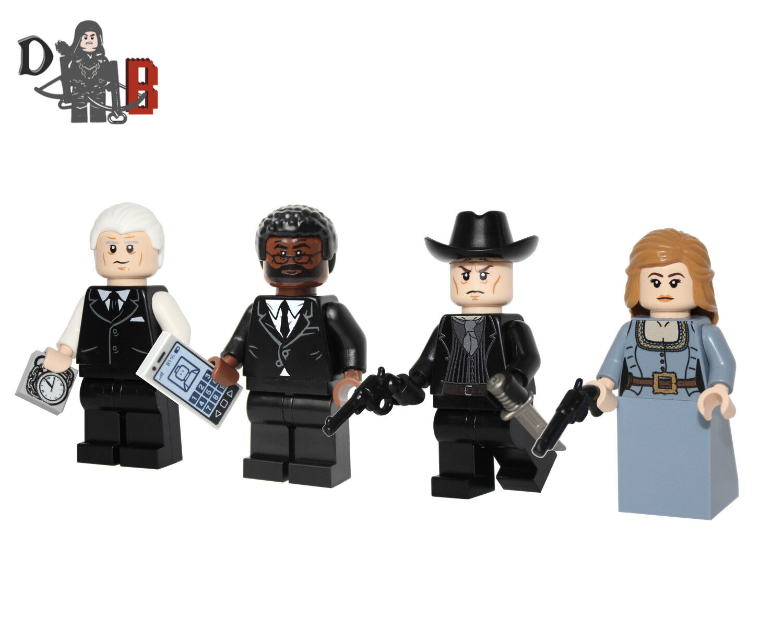 Westworld Figure Mini Set. Realizzati con Lego & su Misura Parti Stampe