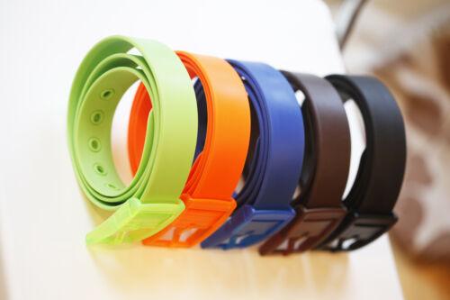 Unisexe Homme Lady kids children/'s ceinture silicone ceinture boucle en plastique fille garçon
