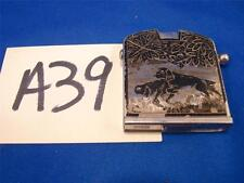 A39 VERY RARE VINTAGE GERMAN KAY-ESS LIGHTER US ZONE GERMANY ETCHED HUNTING DOGS