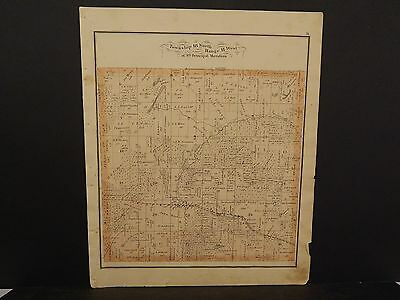 North America Maps Maps, Atlases & Globes Temperate Illinois Cass County Map Virginia Township 1874 !j14#73 Fancy Colours