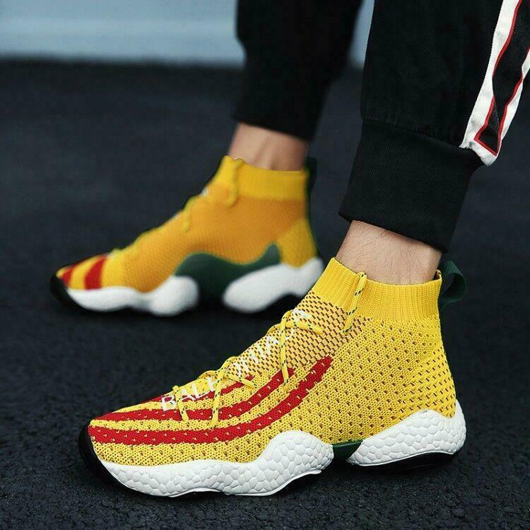 Fashion Mens High Top Socks Leisure shoes Running Strenthcy Breathable shoes Hot