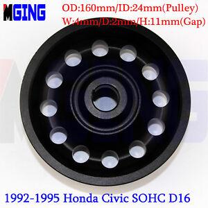 D16-L-Weight-Racing-Crankshaft-Pulley-Underdrive-For-Honda-92-95-Civic-SOHC-BLAC