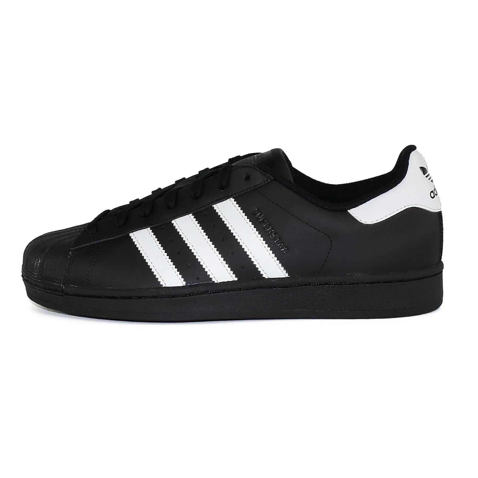 Adidas Superstar Foundatio Herren Schuhe Sneakers B27140 schwarz 50965