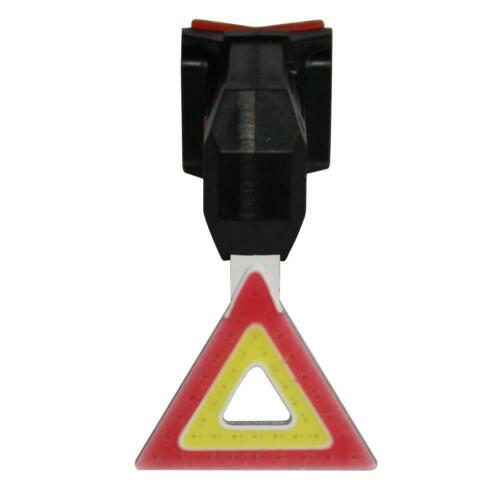 USB Charging Waterproof COB LED Bike Taillights Bicycle Warning Safety Rear Lamp