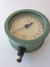 Vintage Ashcroft Bronze Tube Brass Socket 01 Psi Subd 0 30 Test Gauge Green