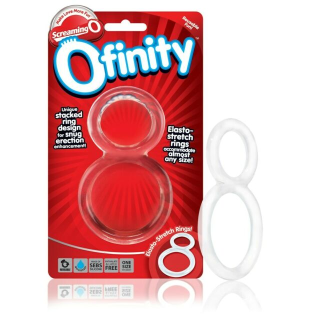 ScreamingO Ofinity Clear male sexual aid cock and ball ring