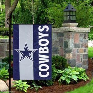 Dallas-Cowboys-12-5-034-x-18-034-Embellished-Applique-Garden-Flag