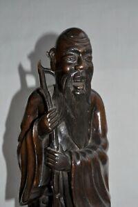 Sculpture-bois-Chine-19eme-Immortel