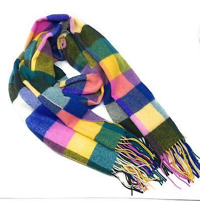 100% Lana D'agnello Stile Oversize Coperta Sciarpa/avvolgere-multicolore Arlecchino-mostra Il Titolo Originale