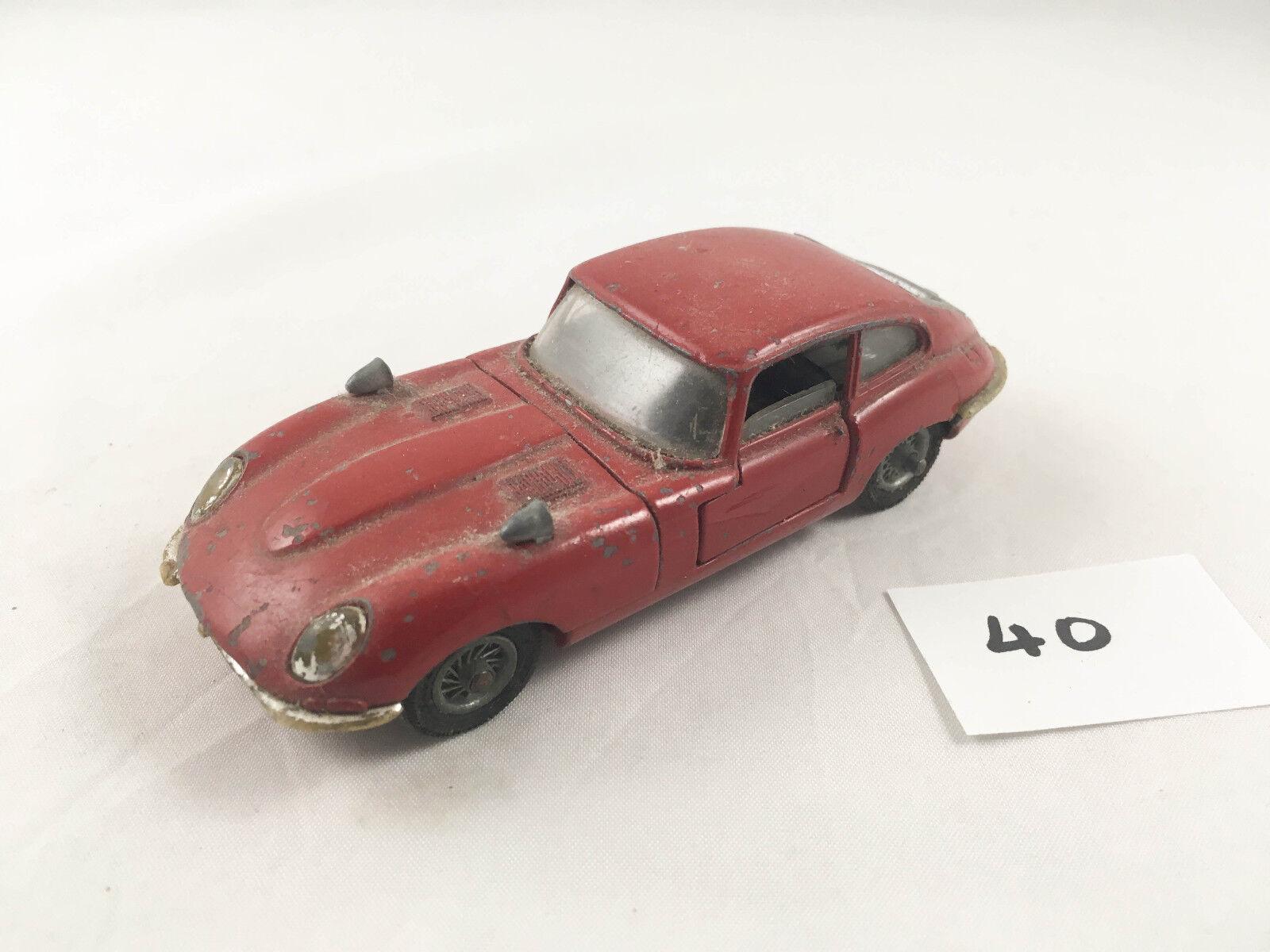 VINTAGE CORGI TOYS JAGUAR E-TYPE 2+2 ORIGINAL DIECAST SPORTS CAR 1969