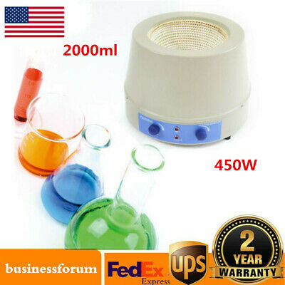 Heating Mantle with Magnetic Stirring 2000ml 0-1600rpm 450W USA Stock 110V